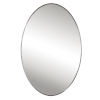 This item: Williamson Brushed Nickel 25-Inch Oval Mirror