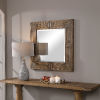 This item: Traveler Chestnut Square Mirror