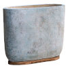 This item: Menja Distressed Ivory and Antique Blue Bowl