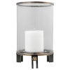 This item: Faraday Antique Brushed Brass and Aged Black Hurricane Candleholder