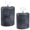 This item: Floral Black and Charcoal Glazes Burst Bottles, Set of 2