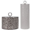 This item: Cyprien Off-White and Smoke Gray Ceramic Containers, Set of 2