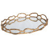This item: Cable Gold Leaf Chain Tray
