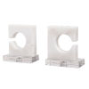 This item: Clarin White and Gray Bookends, Set of 2