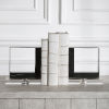 This item: Tilman Brushed Nickel Marble Bookends, Set of 2