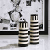 This item: Amhara Black and White Vases, Set of 2