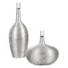 This item: Gatsby Silver Leaf Ribbed Bottles, Set of 2