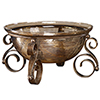 This item: Alya Brown and Gold Decorative Bowl