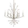 This item: Juliette Antiqued Bright Silver Leaf Six-Light Chandelier