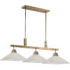 This item: Brookdale Aged Brass Three-Light Linear Chandelier