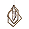 This item: Elroy Silver and Woodtone Mini Pendant