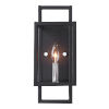 This item: Quadrangle Black and Polished Nickel One-Light Wall Sconce