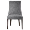 This item: Patamon Gray and Walnut Armless Chair, Set of 2