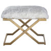 This item: Farran Gold and White Bench