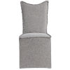 This item: Narissa Gray Armless Chair, Set of 2