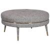 This item: Blake Taupe 36-Inch Round Ottoman