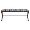 This item: Braddock Navy and Cream Striped Bench