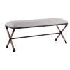 This item: Firth Rustic Iron Oatmeal Bench