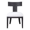 This item: Idris Charcoal Black Accent Chair