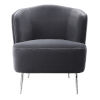 This item: Alboran Charcoal Gray with Polished Nickel Accent Chair