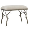 This item: Lismore Antique Silver Small Fabric Bench