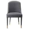 This item: Brie Gray Armless Chair, Set of 2