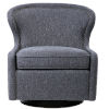 This item: Biscay Dark Charcoal Gray Swivel Chair