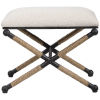 This item: Firth Brown, White and Black 24-Inch Small Bench