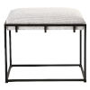 This item: Paradox Matte Black and White 24-Inch Small Bench