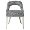 This item: Amalia Charcoal and Light Gray Accent Chair, Set of 2