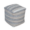 This item: Mesick Gray 18-Inch Handwoven Pouf