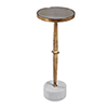 This item: Miriam Gold and White Accent Table