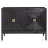 This item: Aiken Dark Walnut 43-Inch Two Door Cabinet