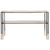 This item: Kentmore Black and Brushed Gold 54-Inch Console Table