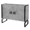 This item: Keyes Light Gray and Charcoal Two Door Cabinet