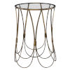 This item: Kalindra Gold 16-Inch Round Accent Table