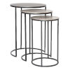 This item: Erik Antique Nickel Nesting Tables, Set of 3