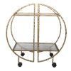 This item: Zelina Brass Bar Cart