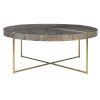 This item: Taja Brushed Brass Round Coffee Table