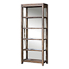This item: Delancey Silver and Woodtone Etagere