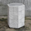 This item: Silo White and Gray Hexagonal Accent Table