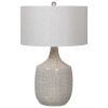 This item: Felipe Brushed Nickel and Gray Table Lamp
