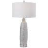 This item: Kathleen Metallic Silver and Brushed Nickel Table Lamp