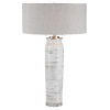 This item: Lenta Off-White Two-Light Table Lamp with Round Hardback Drum Shade