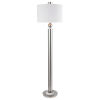 This item: Silverton Brushed Nickel One-Light Floor Lamp with Round Drum Hardback Shade