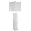 This item: Bennett Gloss White Glaze One-Light Buffet Lamp with Square Hardback Shade