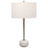 This item: Danes Black Nickel and White One-Light Table Lamp