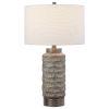 This item: Masonry Black and Nickel One-Light Ceramic Table Lamp