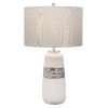 This item: Comanche Off-White One-Light Crackle Table Lamp