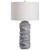 This item: Waves Blue and White One-Light Table Lamp